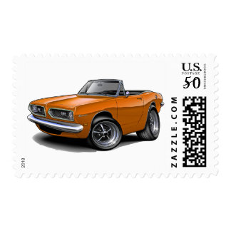 1967-69 Barracuda Orange Convertible Postage