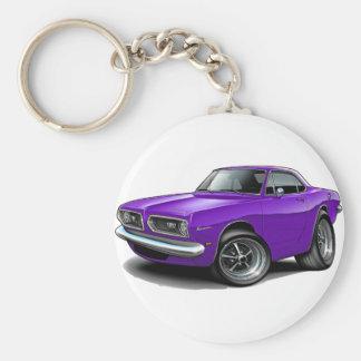 1967-69 Barracuda Purple Coupe Keychain