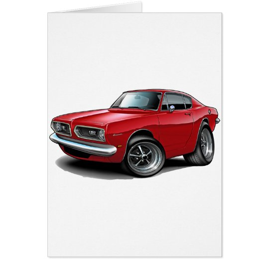 1967-69 Barracuda Red Car Card