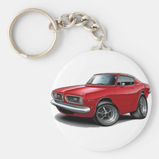1967-69 Barracuda Red Car Keychain