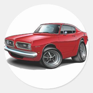 1967-69 Barracuda Red Car Stickers