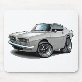 1967-69 Barracuda White Car Mouse Pad