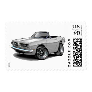 1967-69 Barracuda White Convertible Postage