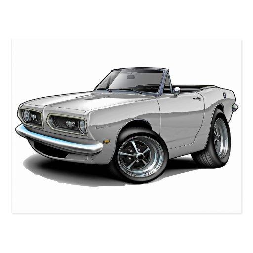 1967-69 Barracuda White Convertible Postcard