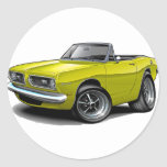 1967-69 Barracuda Yellow Convertible Round Sticker