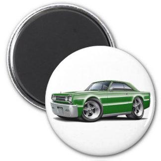 1967 Belvedere Green Car 2 Inch Round Magnet