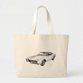 1967 Buick Riviera Illustration Large Tote Bag