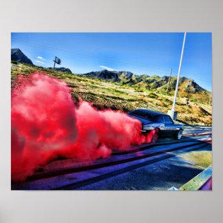 1967 Camaro Burnout Poster
