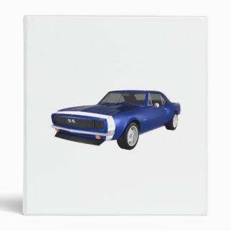 1967 Camaro Muscle Car: Blue Finish: Binder