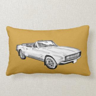 1967 Camaro muscle Car Illustration Lumbar Pillow