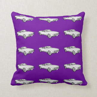 1967 Camaro muscle Car Illustration Throw Pillow