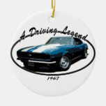 1967 CAMARO RS SS BLUE CHRISTMAS TREE ORNAMENTS