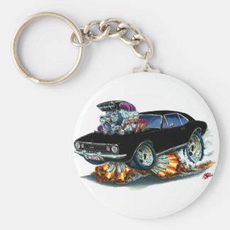 1967 Camaro SS Black Car Basic Round Button Keychain