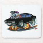 1967 Camaro SS Black Car Mouse Pads