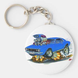 1967 Camaro SS Blue Car Basic Round Button Keychain