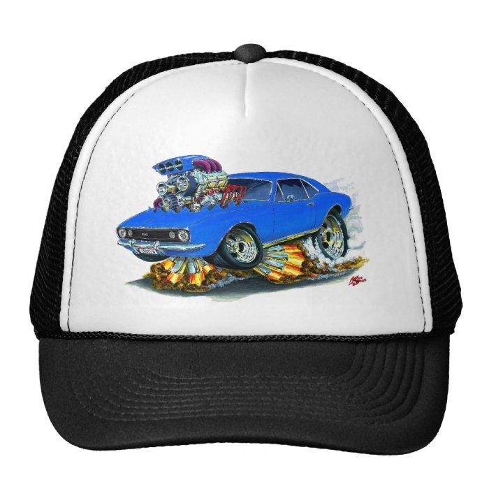 1967 Camaro SS Blue Car Trucker Hat