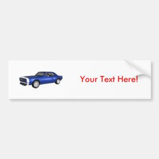 1967 Camaro SS: Blue Finish: 3D Model: Car Bumper Sticker