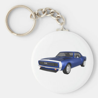 1967 Camaro SS: Blue Finish: 3D Model: Keychain