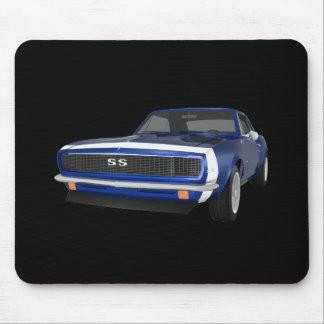 1967 Camaro SS: Blue Finish: 3D Model: Mouse Pad