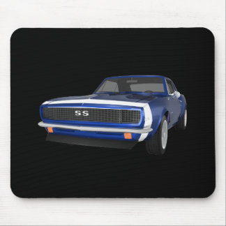 1967 Camaro SS: Blue Finish: 3D Model: Mousepad