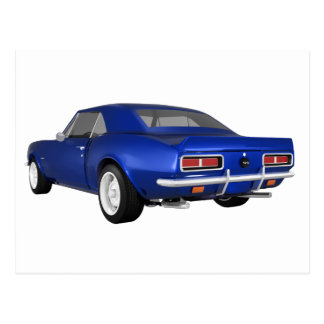1967 Camaro SS: Blue Finish: 3D Model: Postcard