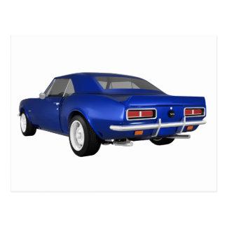 1967 Camaro SS: Blue Finish: 3D Model: Postcard