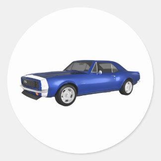 1967 Camaro SS: Blue Finish: 3D Model: Stickers