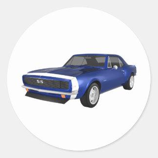 1967 Camaro SS: Blue Finish: 3D Model: Sticker