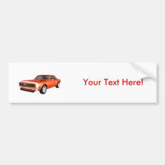 1967 Camaro SS: Orange Finish: 3D Model: Car Bumper Sticker