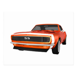 1967 Camaro SS: Orange Finish: 3D Model: Postcard