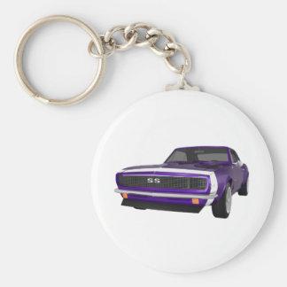 1967 Camaro SS: Purple Finish: 3D Model: Basic Round Button Keychain