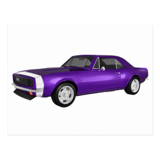 1967 Camaro SS: Purple Finish: 3D Model: Postcard