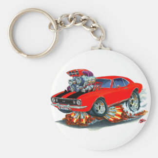 1967 Camaro SS Red-Black Car Basic Round Button Keychain
