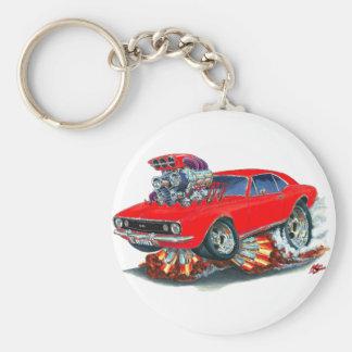 1967 Camaro SS Red Car Basic Round Button Keychain