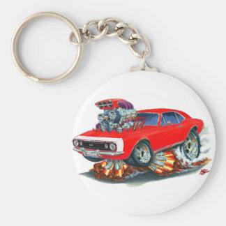 1967 Camaro SS Red-White Car Basic Round Button Keychain