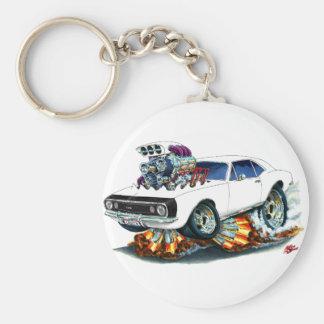1967 Camaro SS White-Black Car Basic Round Button Keychain
