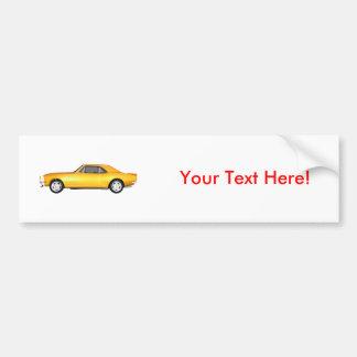 1967 Camaro SS: Yellow Finish: 3D Model: Bumper Sticker