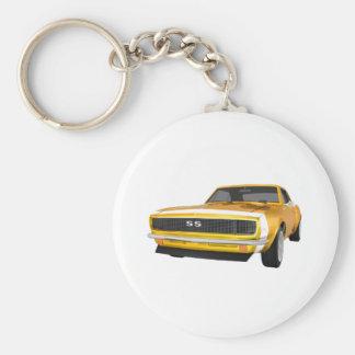1967 Camaro SS: Yellow Finish: 3D Model: Basic Round Button Keychain