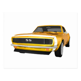 1967 Camaro SS: Yellow Finish: 3D Model: Postcard