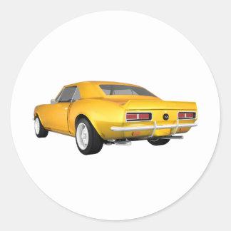 1967 Camaro SS: Yellow Finish: 3D Model: Sticker