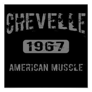 1967 Chevelle American Muscle Poster