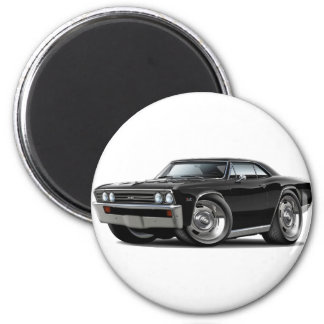 1967 Chevelle Black Car 2 Inch Round Magnet