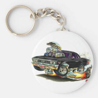 1967 Chevelle Black Car Keychain