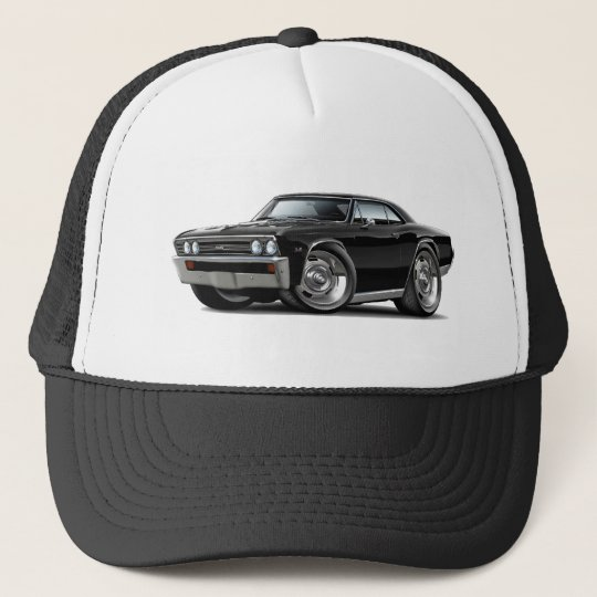 1967 Chevelle Black Car Trucker Hat