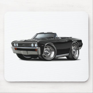 1967 Chevelle Black Convertible Mouse Pads