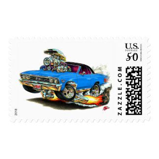 1967 Chevelle Blue-Black Car Postage