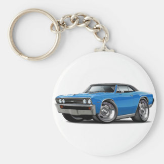 1967 Chevelle Blue Black Top Keychain