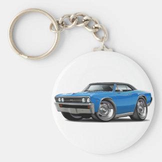 1967 Chevelle Blue Black Top Basic Round Button Keychain