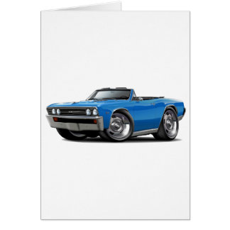 1967 Chevelle Blue Convertible Card