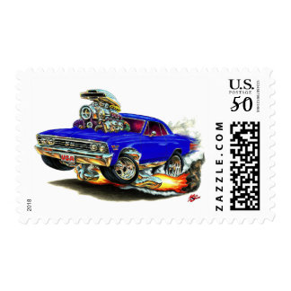 1967 Chevelle Dark Blue Car Postage